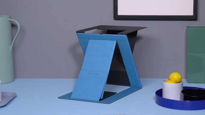MOFT Z foldable standing desk and laptop stand