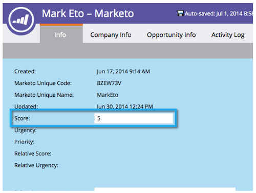 automated email marketing marketo lead scoring examples