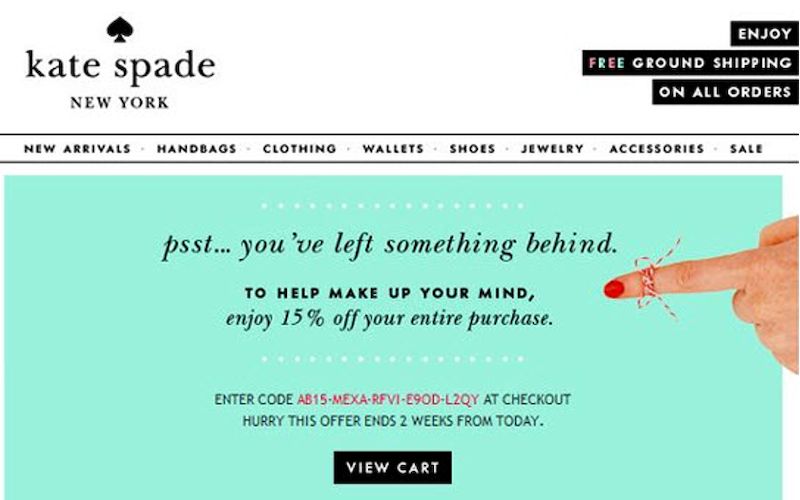 sales promotion examples coupons kate spade