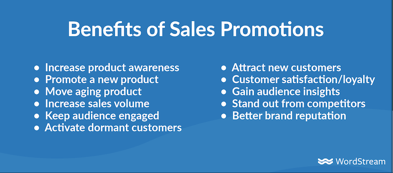 sales promotion examples-benefits of sales promotions