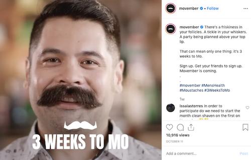 free november marketing ideas movember