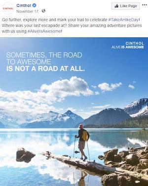 november marketing ideas take a hike day