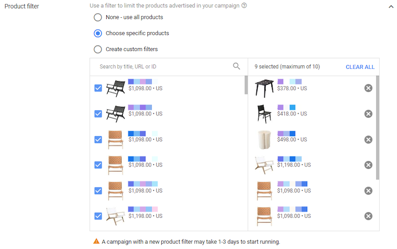 youtube holiday advertising tips for 2020 shopping campaign product selection