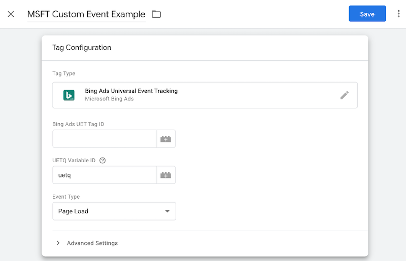 microsoft ads event tracking conversion tracking tag configuration