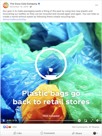 november marketing ideas america recycles coca cola
