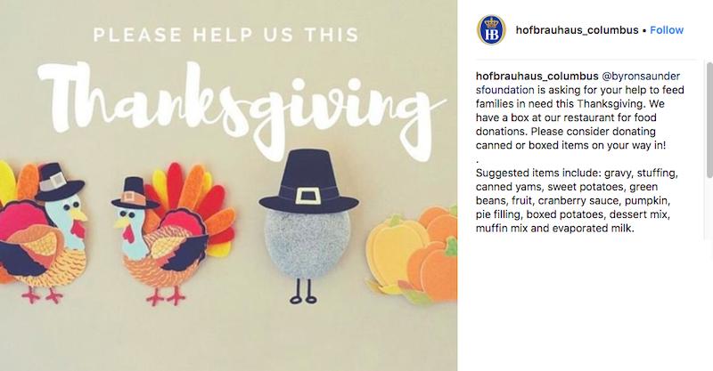 free november marketing ideas thanksgiving food drive