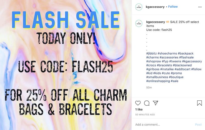sales promotion examples flash sale promo code