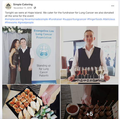 free november marketing ideas lung cancer support caterers