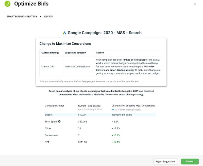 google ads automated bidding optimize bids alert 20 minute work week