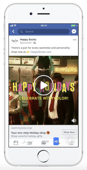 facebook ecommerce mobile ad example
