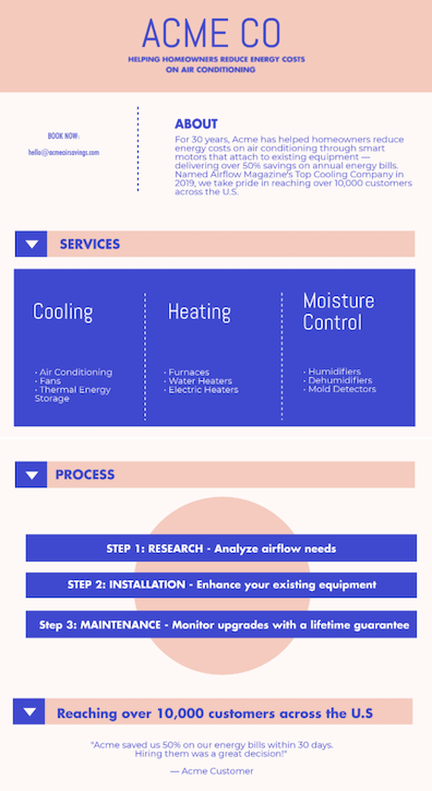 marketing one-pager example