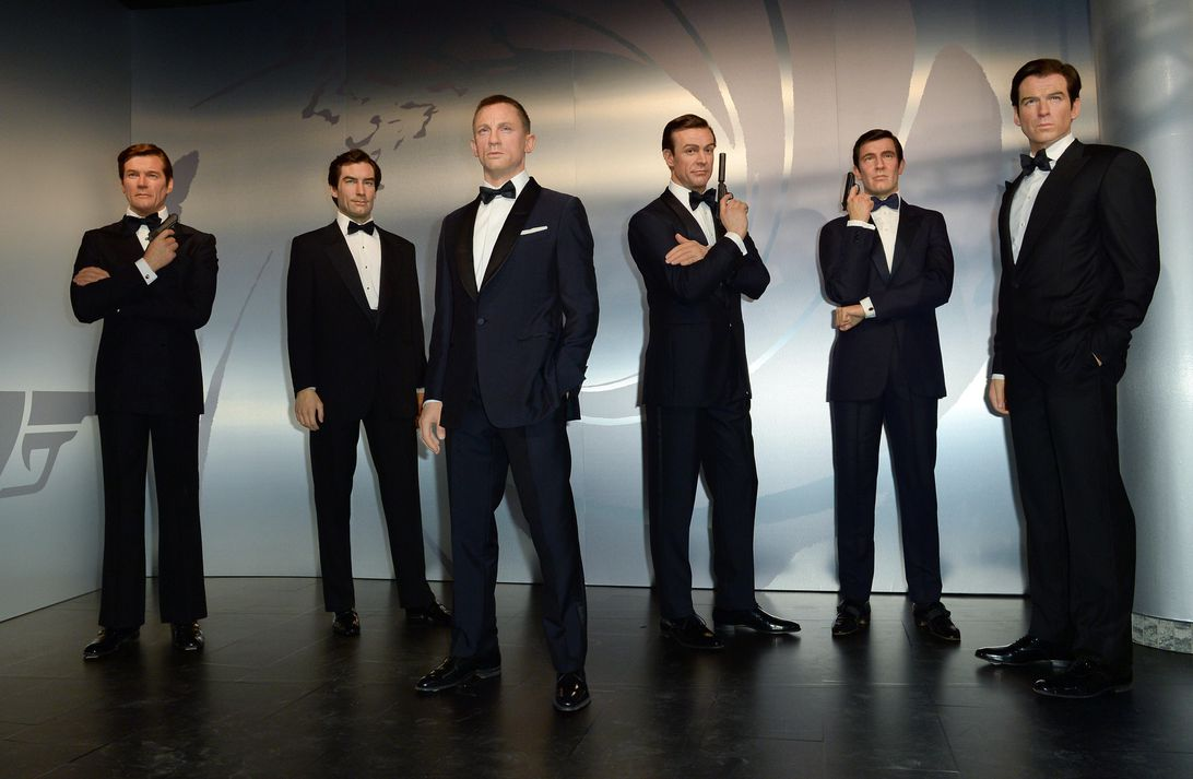 James Bond actors portrayed at Madame Tussaud's