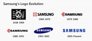 samsung logo evolution