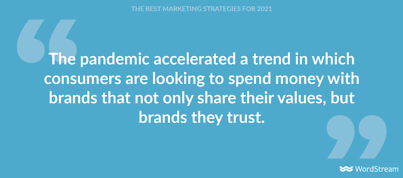 best marketing strategies for 2021-build trust