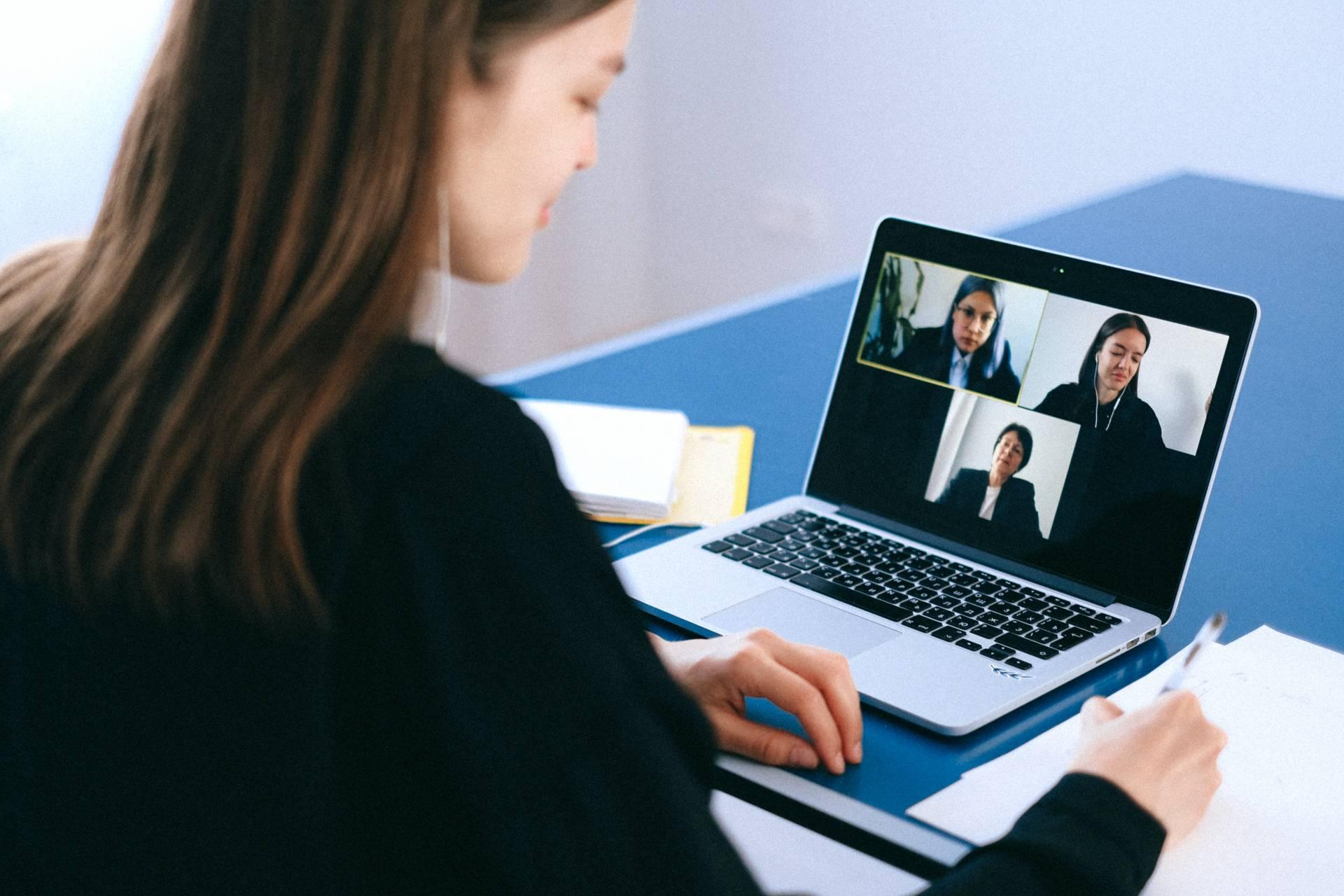 remote team video conference