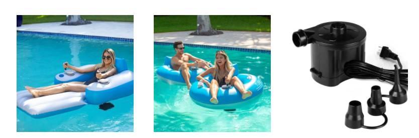 poolcandy motorized pool loungers